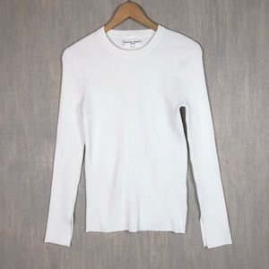 Apiece Apart ribbed long sleeve top white L